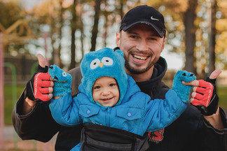 Отец-молодец, или Как папа-спортсмен тренируется с  годовалым ребенком