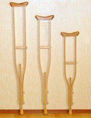 Мега-Оптим Костыли подмышечные деревянные 01-КИ (взрослые) с мягкими накладками
